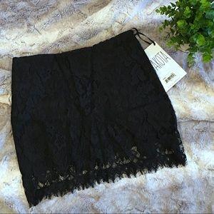 BB Dakota new black lace mini skirt 0 XS nwt